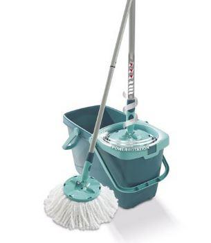 Balai à franges + Seau Leifheit 52019 Clean Twist Mop - Bleu