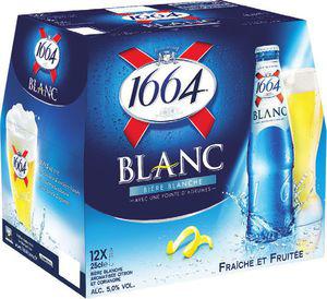 Lot de 2 packs de bières blanches 12X25 1664 (via bon de réduction)