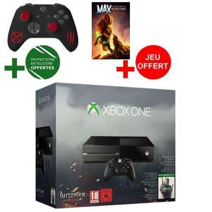 Console Xbox One + The Witcher 3 Wild Hunt + Protection pour Manette The Witcher + Max The Curse of Brotherhood