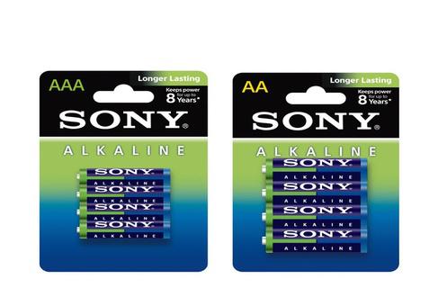Lot de 48 piles Sony (24 AA + 24 AAA) Longue Durée