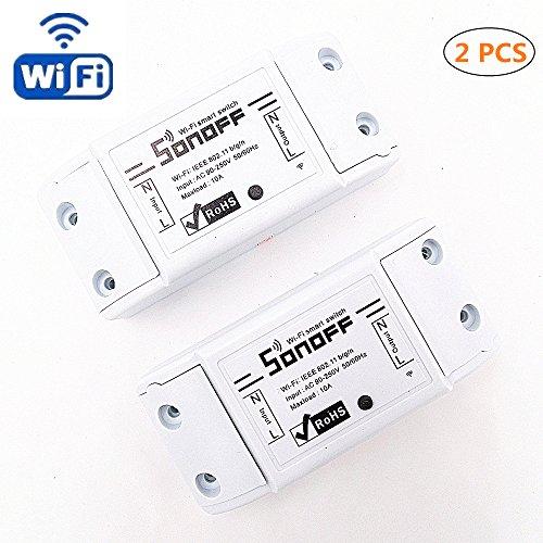 Lot de 2 interrupteur sans-fil Sonoff Basic (vendeur tiers)