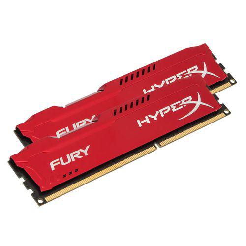 Kit mémoire 16 Go (2x8Go) DDR3 Kingston HyperX Fury Red - 1866 MHz CL10