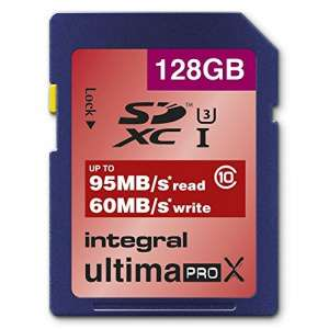 Carte mémoire Integral UltimaPro X SDXC 128Go