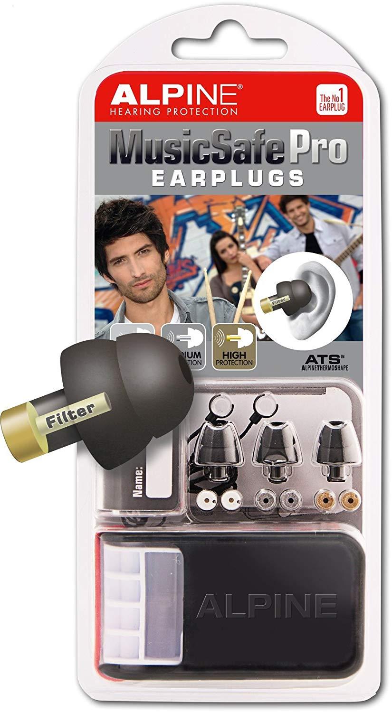 Bouchons d'oreilles avec filtres Alpine MusicSafe Pro - noir