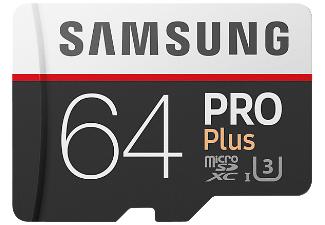 Carte Micro SDXC Samsung Pro Plus U3 - 64 Go (Frontaliers Allemagne)