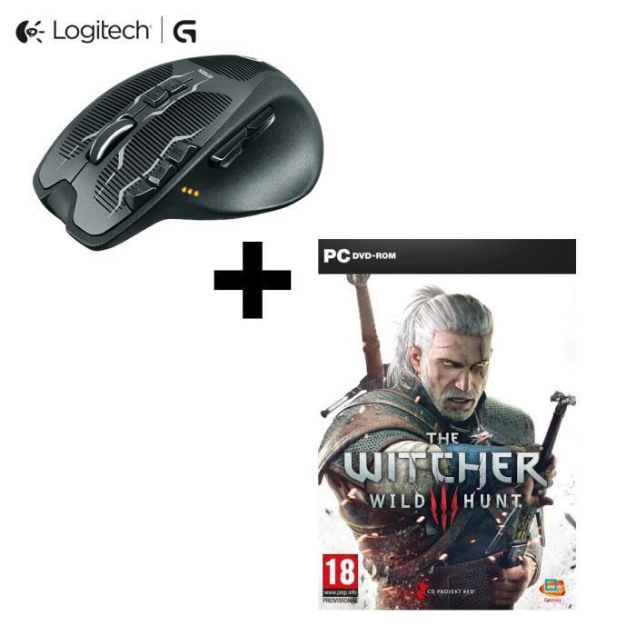 Souris gaming Logitech G700S + The Witcher 3 sur PC