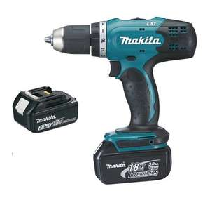 Perceuse visseuse Makita 18V 3.0Ah + 2 Batteries, chargeur, en coffret