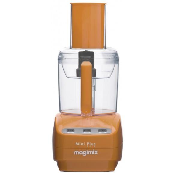 Robot multifonction Magimix 18254F Mini plus - Coloris Papaye + 2 disques (Ondulé et Parmesan)