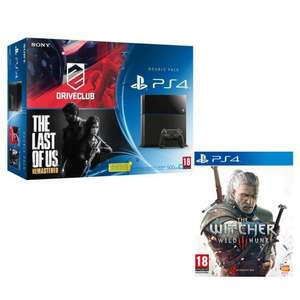 Pack Console PS4 Noire + Drive Club + The Last of Us + The Witcher 3