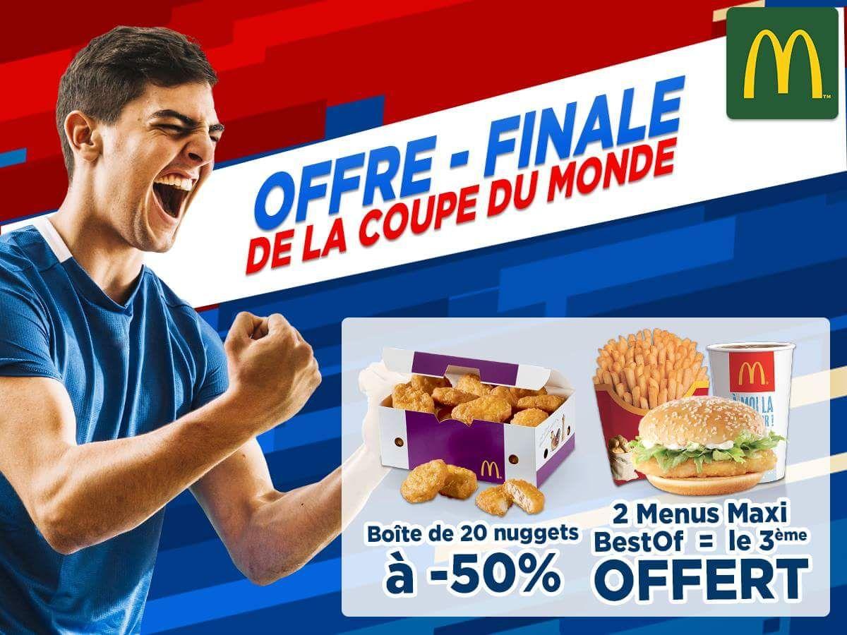 Sélection d'offres promotionnelles. Ex : Boîte de 20 Nuggets à 5.25€ (39)