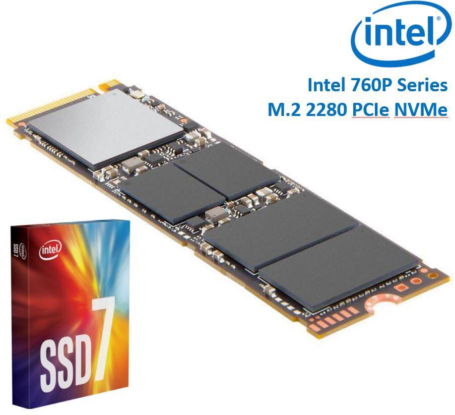 SSD Intel M.2 NVMe 760p Series - 256 Go