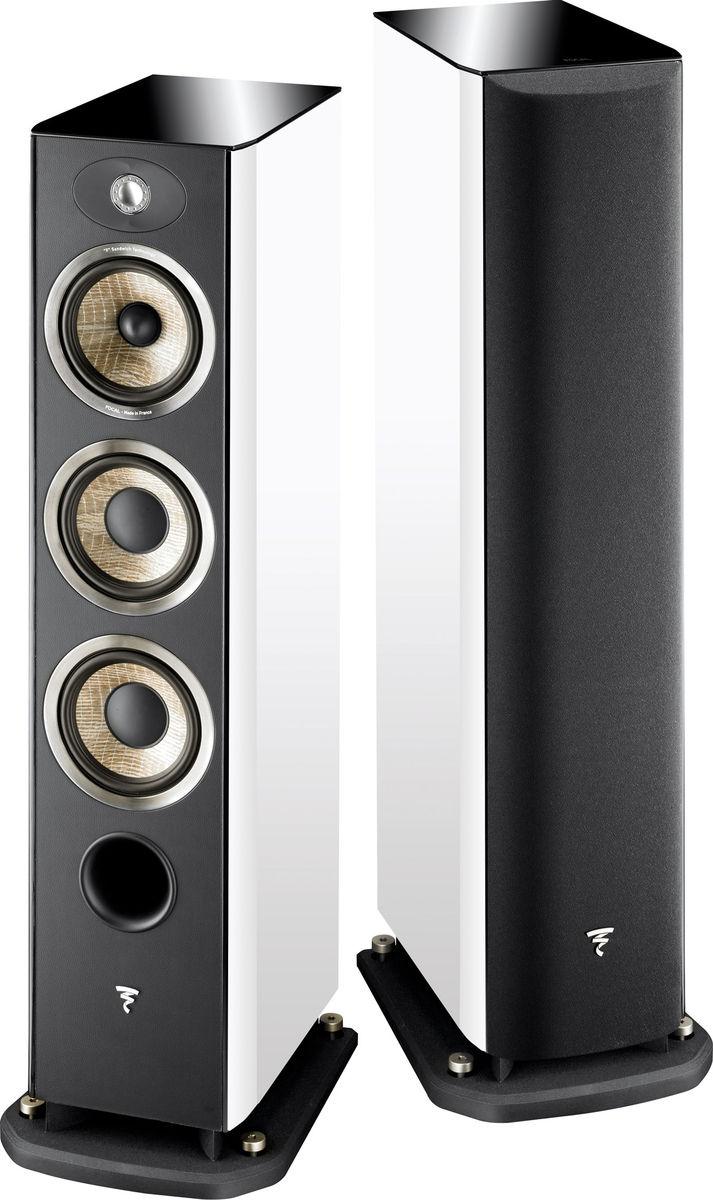 Paire d'Enceintes Colonne Bass-reflex Focal Aria 926 à 3 Voies - Blanc laqué