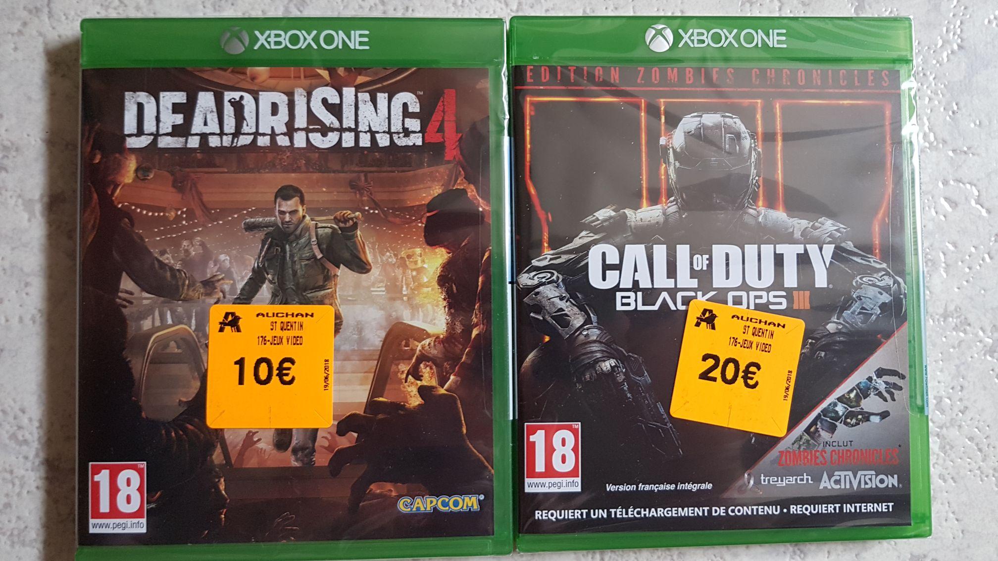 Sélection de jeux Xbox et PS4 en promotion - Ex: Call of Duty Black Ops 3 (Carte zombie incluse) sur Xbox One - Saint-Quentin (02)