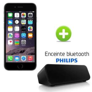 Smartphone Apple iPhone 6 16Go Gris Sidéral + Enceinte Bluetooth Philips SBT75