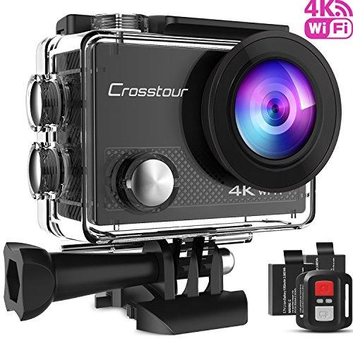 [Prime] Caméra sportive 4K Crosstour CT9000 + 1 batterie + 18 accessoires (Vendeur tiers)