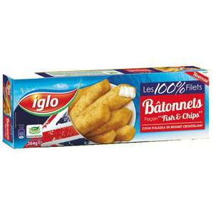 Lot de 4 boites de bâtonnets façon fish & chips Iglo (via bon de réduction)
