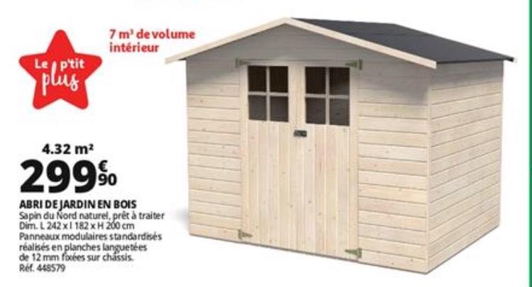 Abri de jardin en bois Kolari - 4.32M²