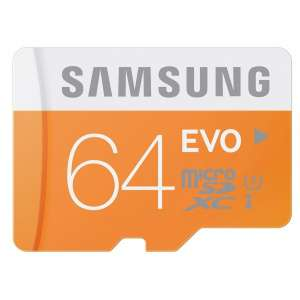 Carte mémoire Samsung Evo Micro SDXC 64Go UHS-I U1 Classe 10 - 48 MB/s