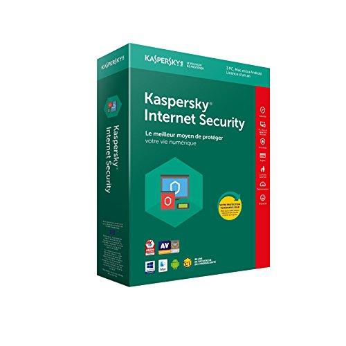 [Prime] Logiciel Anti-virus Kaspersky Internet Security 2018 - 3 Postes - 1 an (Dématérialisé)