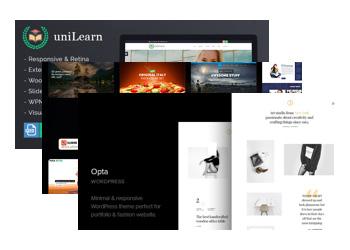 Sélection de Templates WordPress Gratuites - Ex: UniLearn, Maximum et Opta