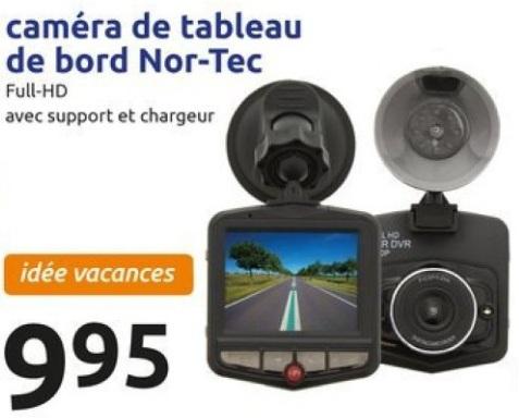 Caméra embarquée Nor-Tec - full HD, avec chargeur et support