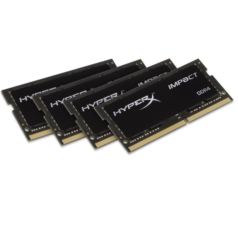 Kit mémoire Ram DDR4 SODIMM HyperX Impact 16 Go (4 x 4 Go) - 2400 MHz Cas 14