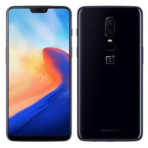 "Smartphone 6.28"" OnePlus 6 - Full HD+, SnapDragon 845, 6 Go de RAM, 64 Go, 4G (B20/B28), noir (Jusqu'à 149.70€ en Superpoints via l'Application)"
