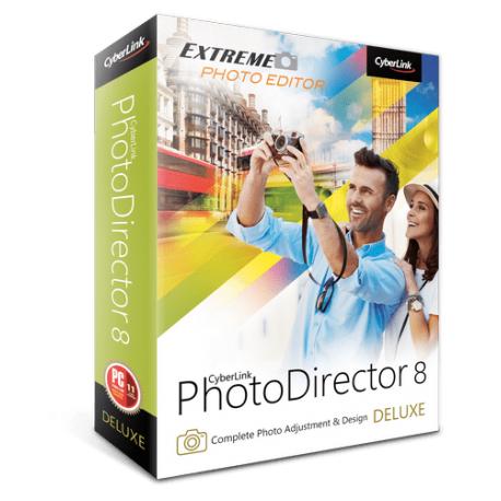 Logiciel Photo Director 8 Deluxe gratuit sur PC et Mac (Dématérialisé)