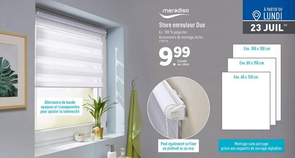 Store enrouleur Meradiso Duo - accessoires de montage inclus, différentes tailles