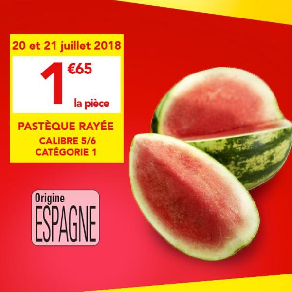 Pastèque rayée - calibre 5/6, cat. 1, origine Espagne