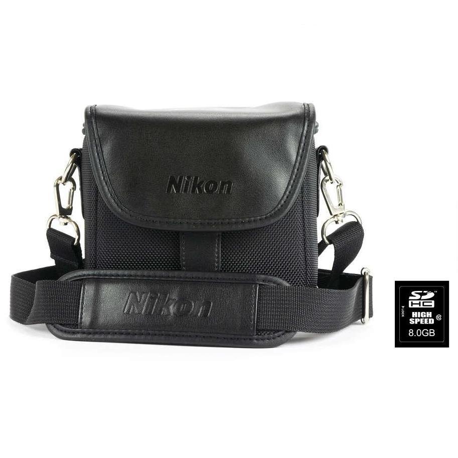 Kit sacoche appareil photo Nikon VAECS-P08 + carte mémoire SD 8Go