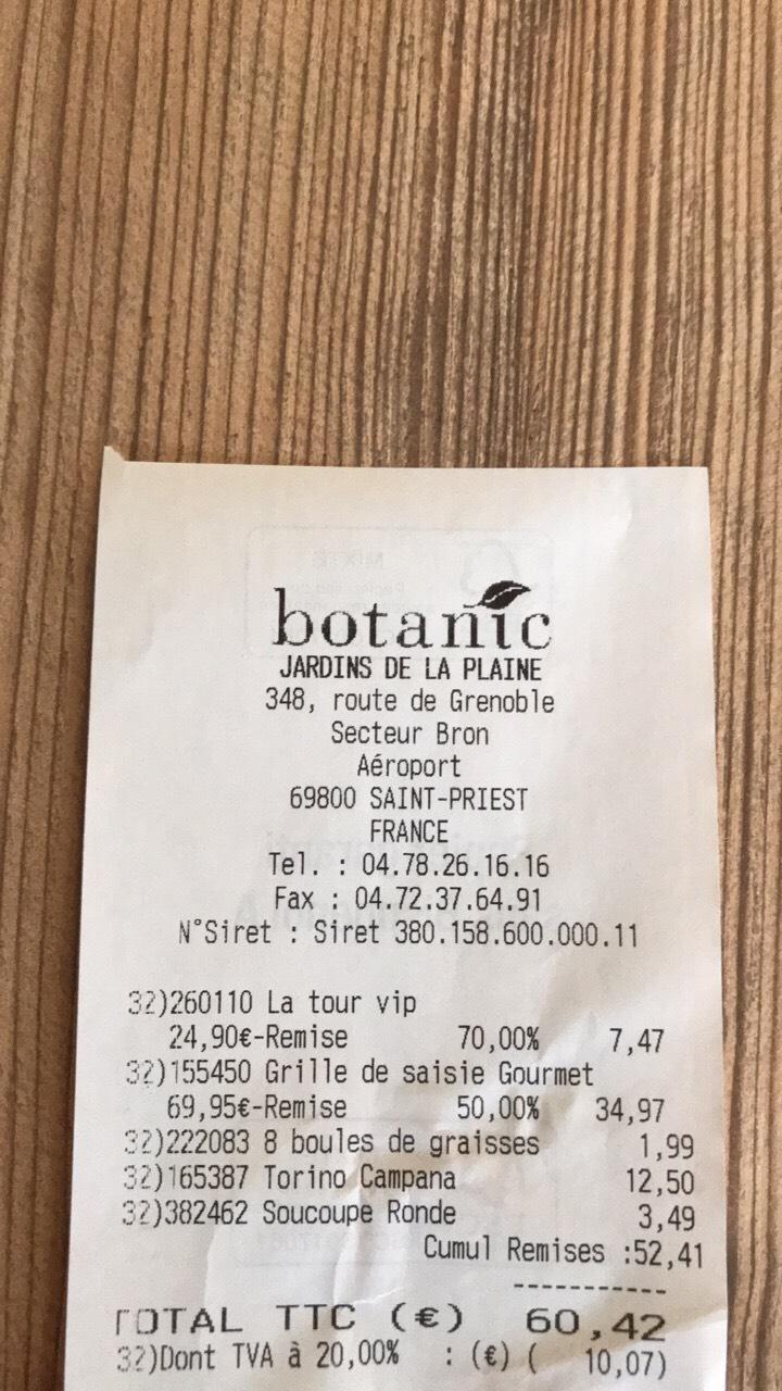 Grille de saisie Weber Gourmet - Botanic Saint-Priest (69)
