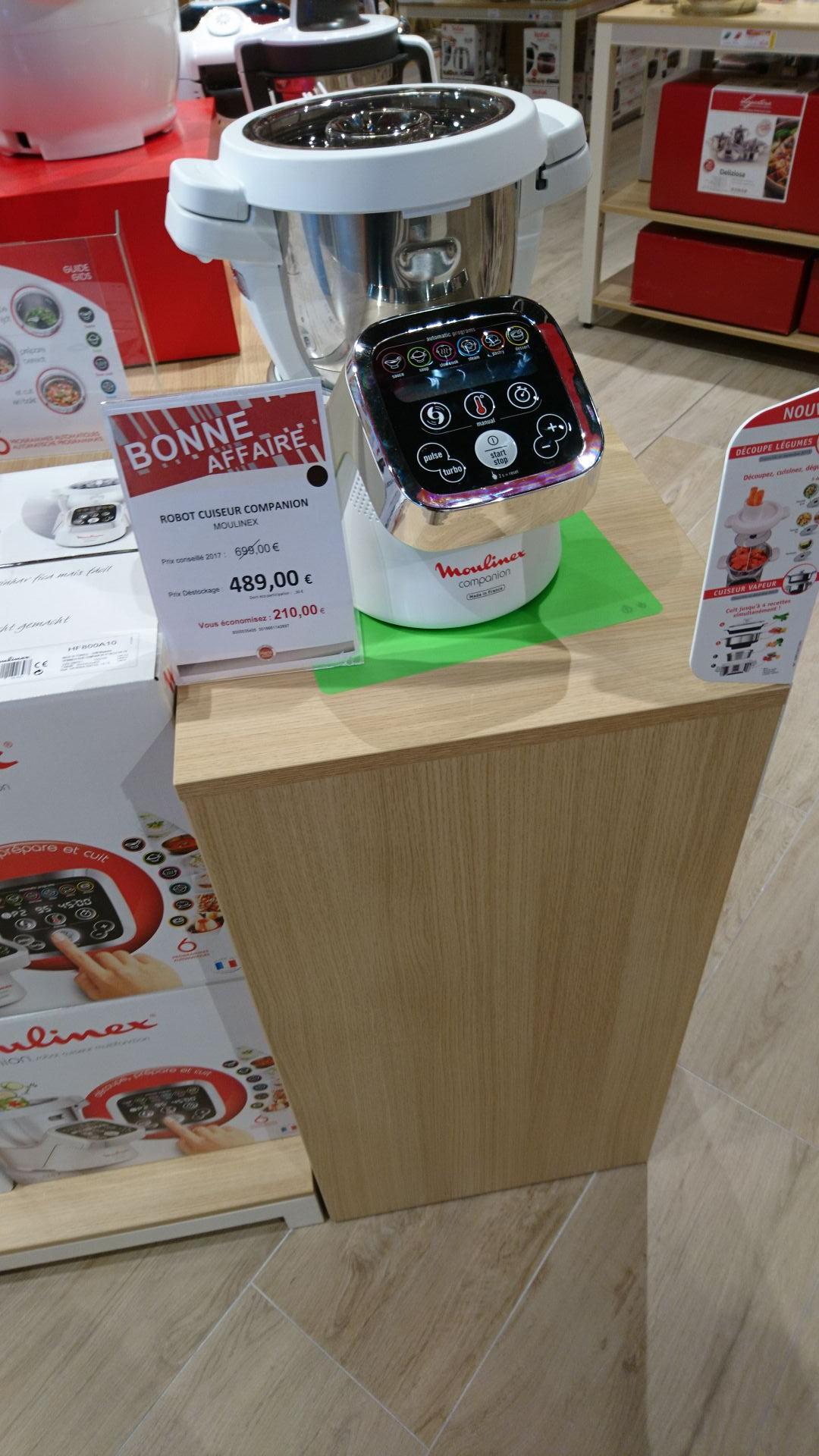 Robot de cuisine multifonction Moulinex Companion HF800A10 - Home & Cook Village des Marques (38)
