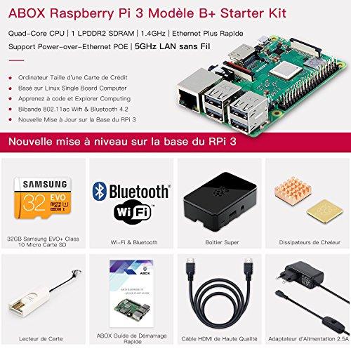 Kit Complet Raspberry Pi 3 B+ Kit Complet 32Go - Boîtier, Alimentation, Câble HDMI (vendeurstiers)