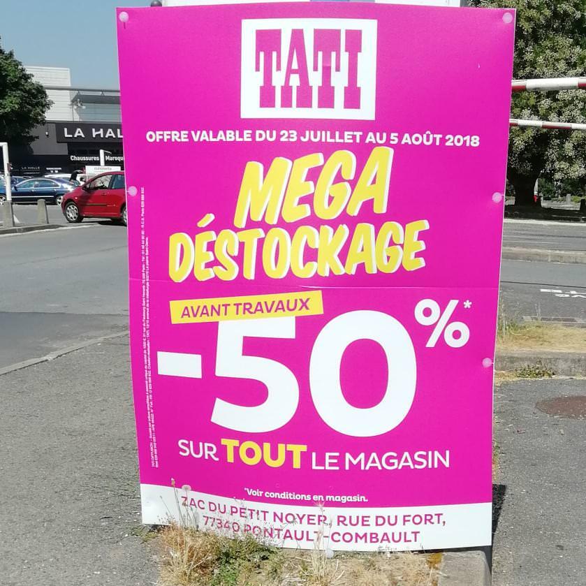 -50% sur tout le magasin - Pontault Combault (77)