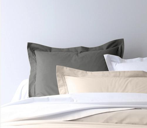 Taie d'oreiller en coton (72 fils/cm²) - 50x70 - gris anthracite