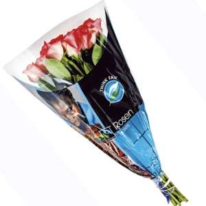 Bouquet de 15 roses Think Fair - 40 cm, coloris au choix