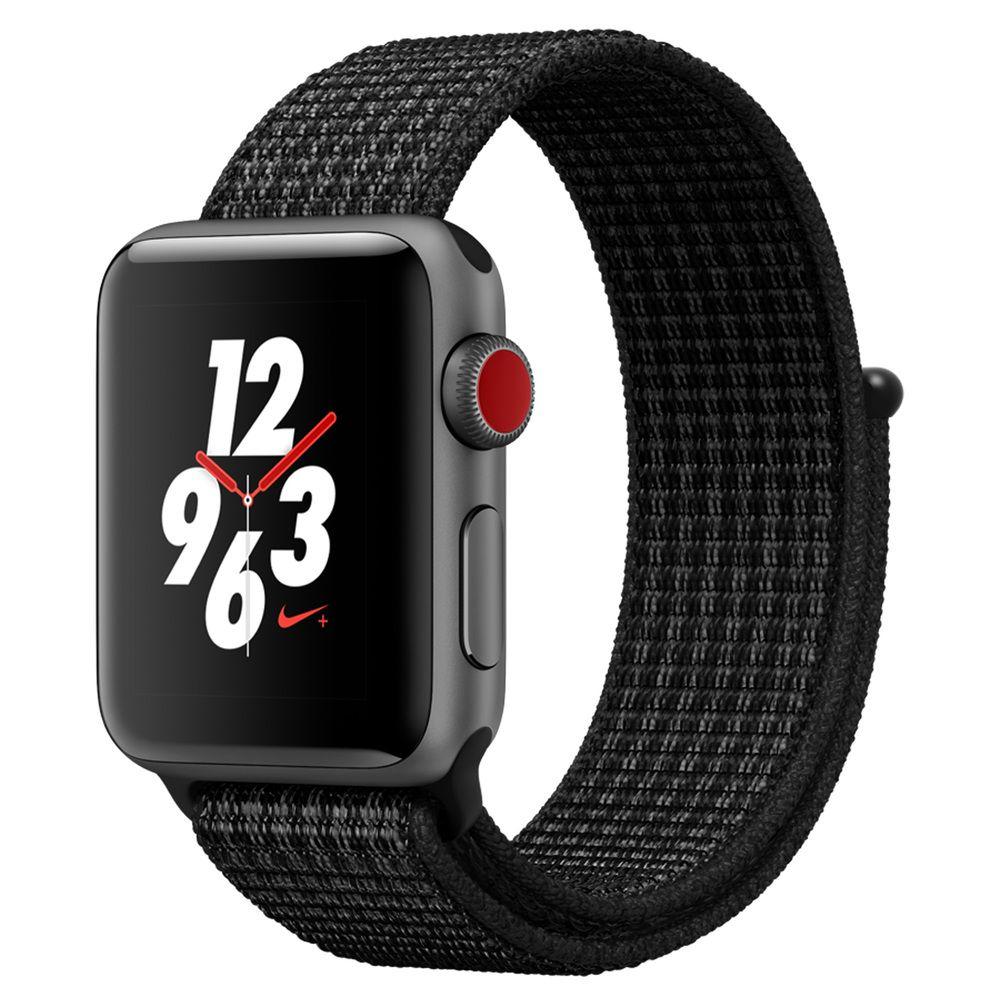 Montre Connectée Apple Watch Serie 3 Nike+ 38MM 4G + GPS bracelet noir nylon (Frontaliers Suisse)