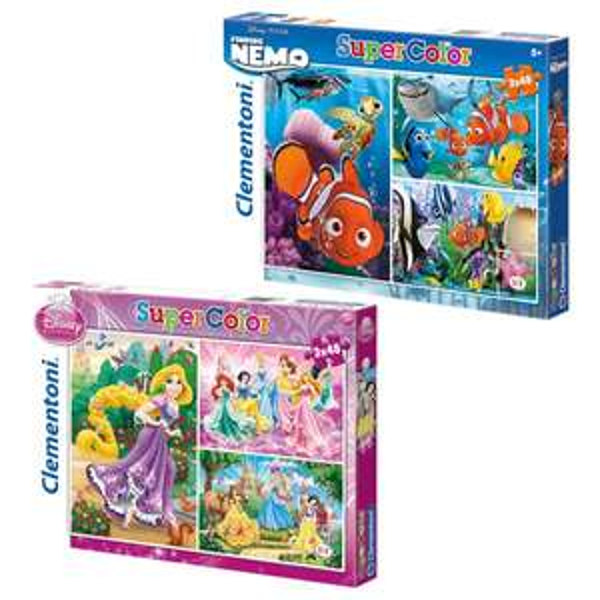 Lot de 3 Puzzles 48 pièces Disney