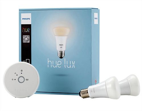 Kit de démarrage Philips Hue Lux: 2 ampoules LED connectées + pont de connexion (avec 30% sur la carte)