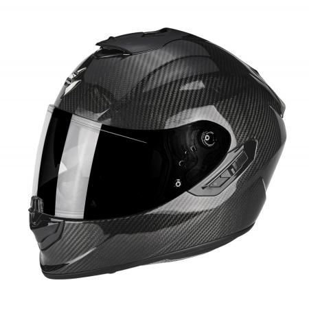 Casque Scorpion Exo 1400 Carbon Solid - Noir (Plusieurs tailles)