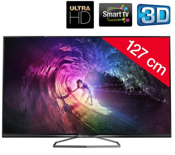 """TV LED 50"""" Philips 50PUK6809 - 3D, Smart TV, Ultra HD"""