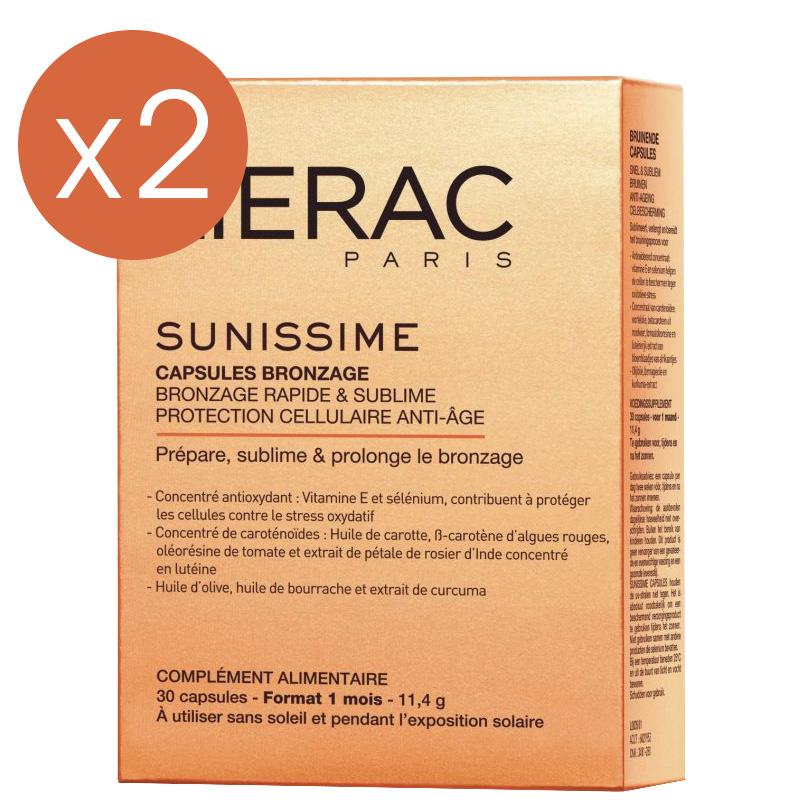 Capsules de bronzage LIERAC - 2 mois (2 boites de 30 capsules)