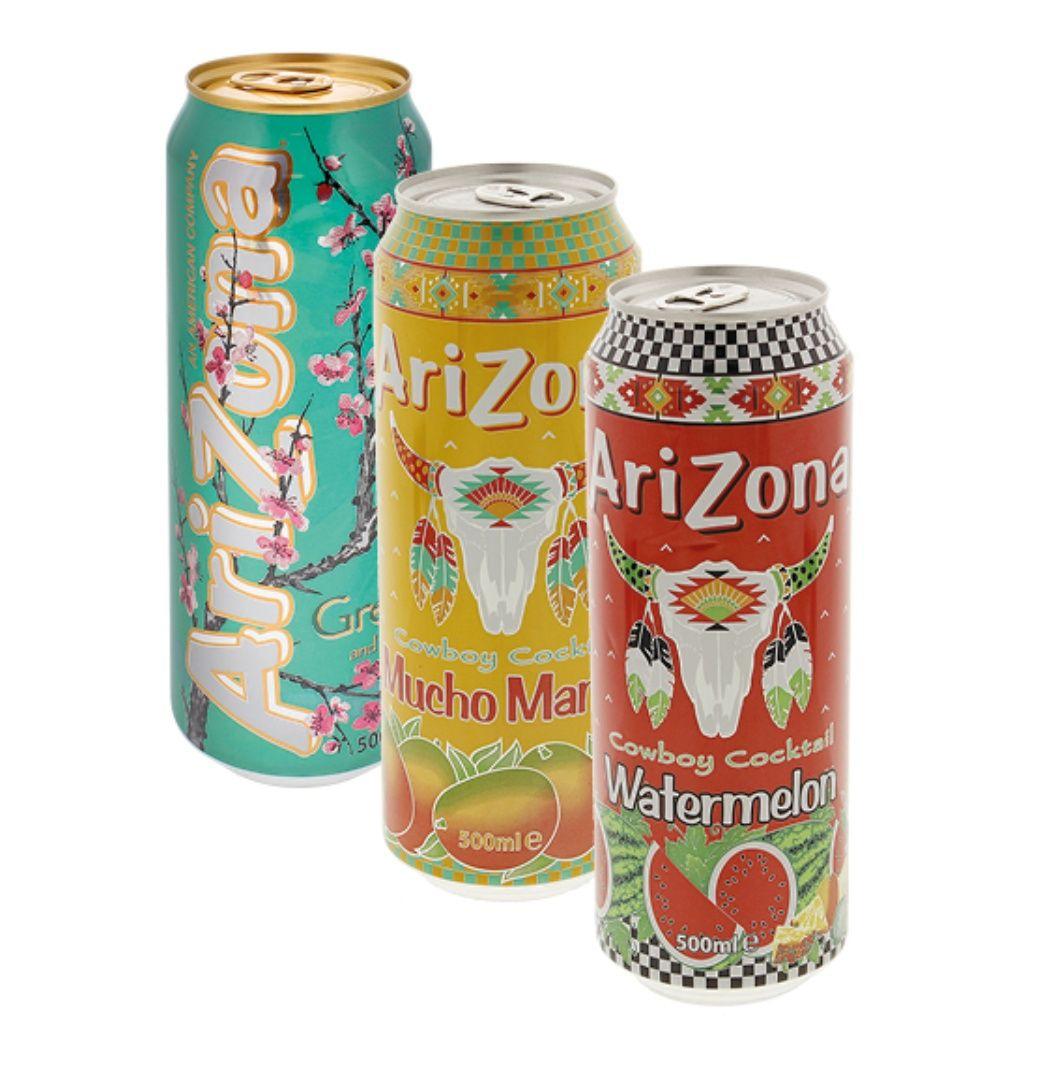 Canette de thé glacé Tea Arizona - 500ml (Plusieurs variétés)