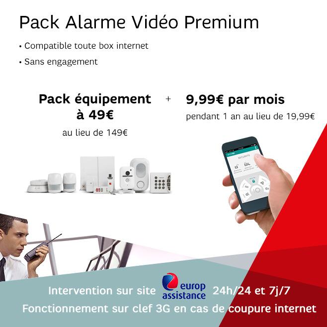 Pack Alarme Vidéo Home by SFR Premium