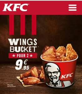 Bucket de 8 Country Wings + 8 Hot wings ou 6 Country Wings/Hot Wings + 6 Tenders avec 2 sauces