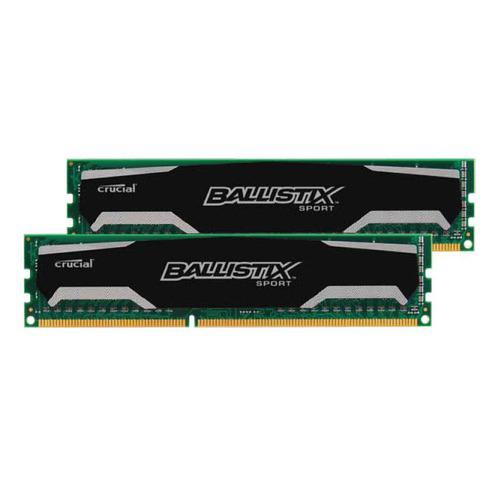 Mémoire RAM DDR3 Crucial Ballistix Sport 16Go (2x8) 1600 MHz, CAS 9