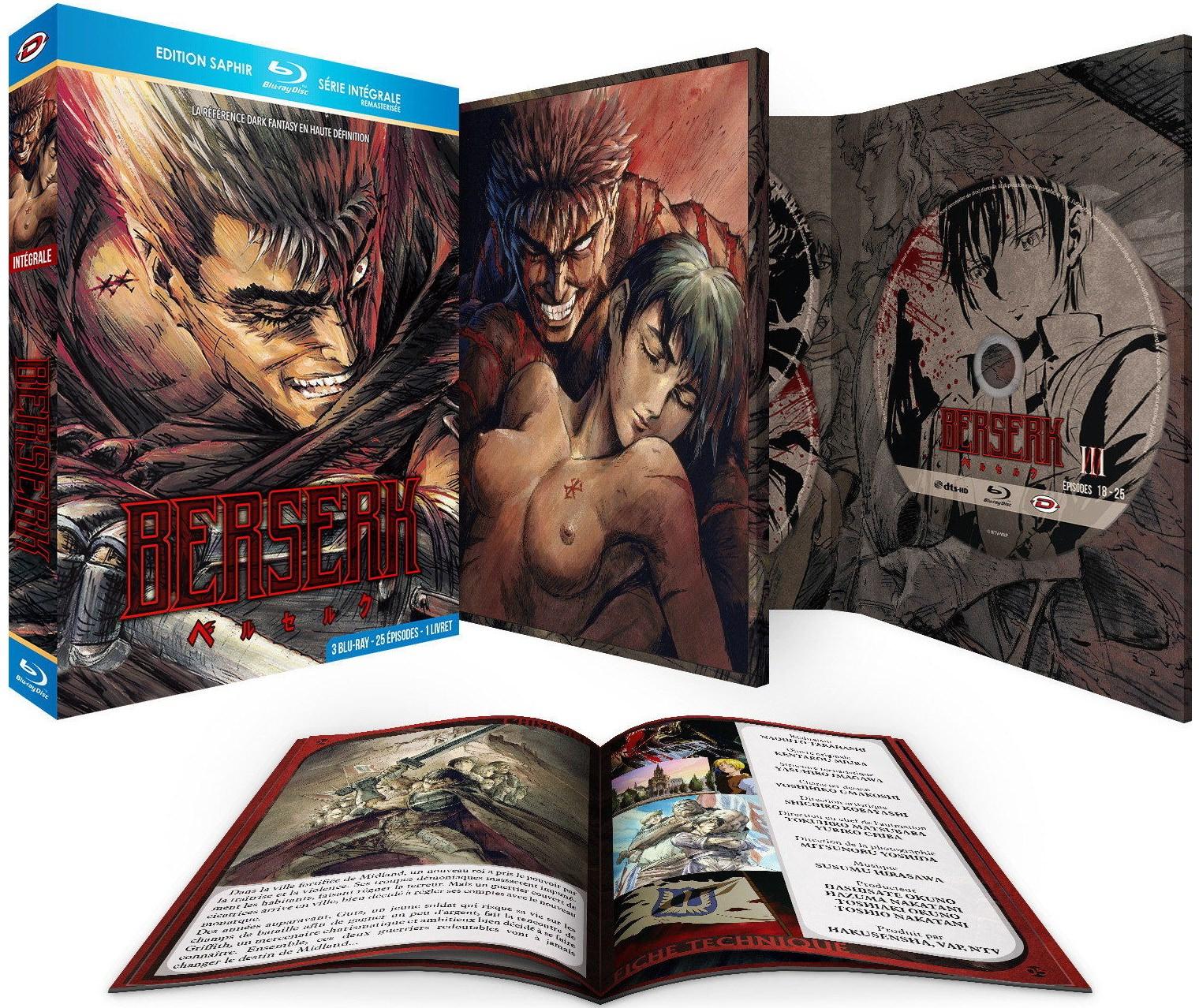 Coffret Blu-ray Berserk l'Intégrale Edition Saphir avec Livret