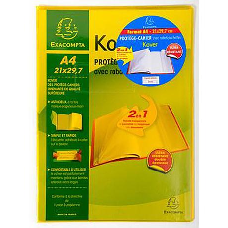 Protège Cahier Exacompta - 21x29.7 (via 0.68€ sur la carte fidélité)