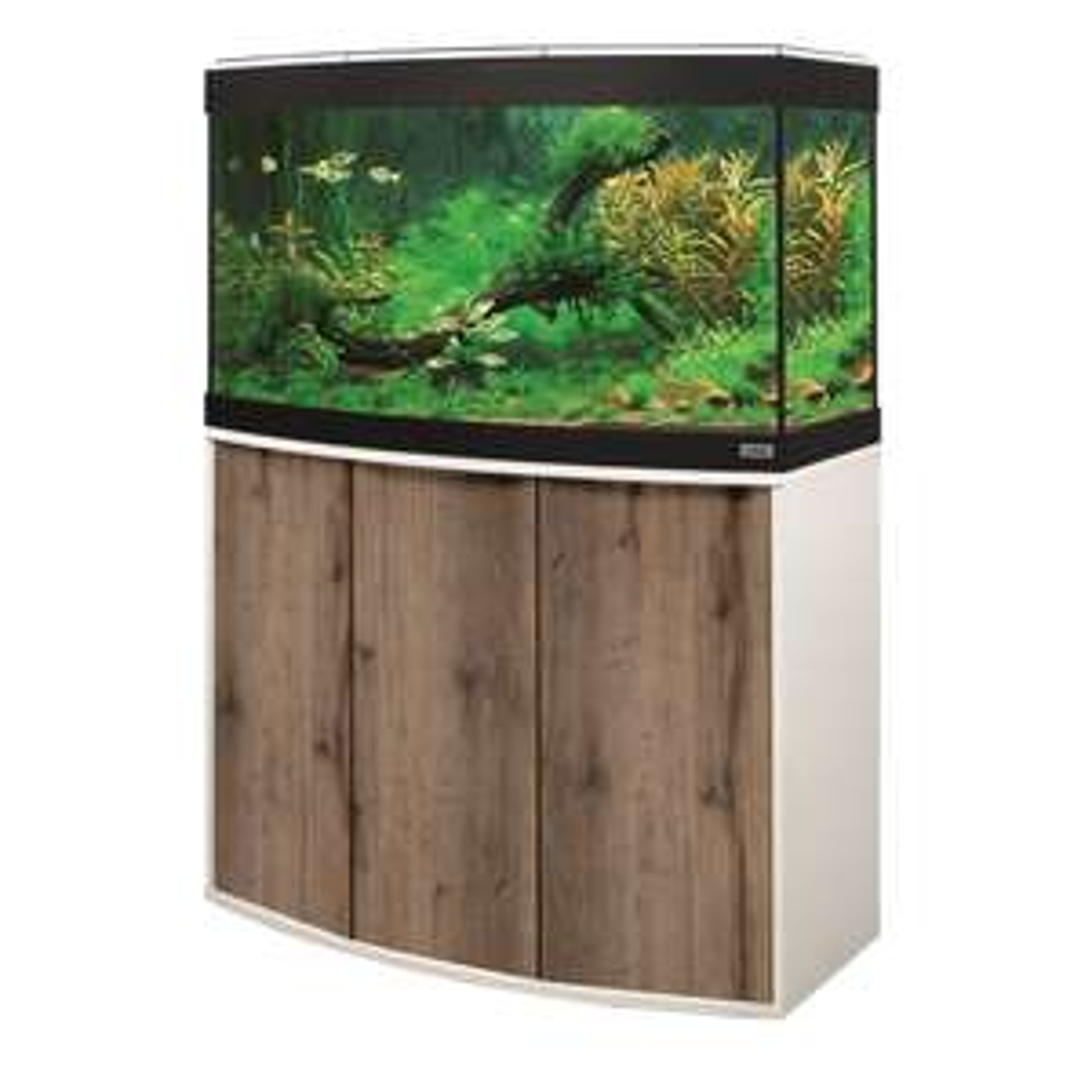 Aquarium Fluval Vicenza 180 LED et meuble : Blanc et chêne